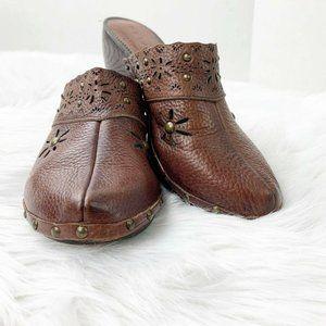 PESARO Women's Brown Clogs Mules, Slides, SIZE 9
